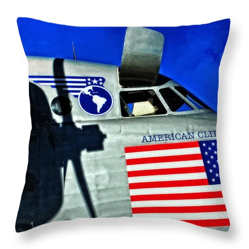 Plane Throw Pillow featuring the photograph American Clipper by Mike Martin