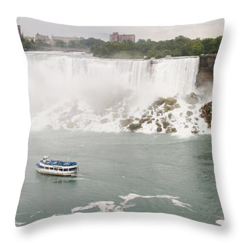 3scape Throw Pillow featuring the photograph American Falls by Adam Romanowicz