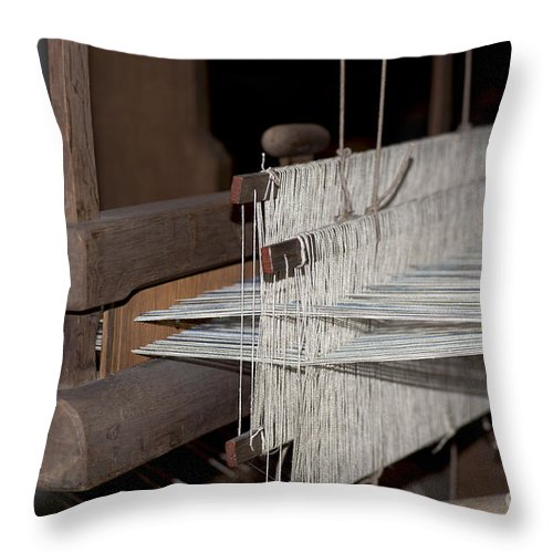 Vintage Loom Throw Pillow featuring the photograph American Loom 1 Of 3 by Terri Winkler