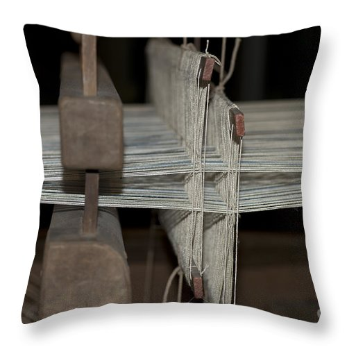Vintage Loom Throw Pillow featuring the photograph American Loom 3 Of 3 by Terri Winkler