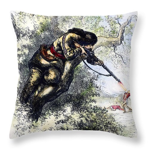 1780s Throw Pillow featuring the photograph American Marksman by Granger