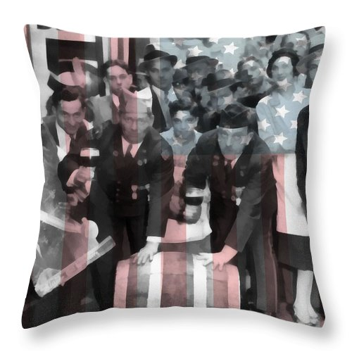 1933 Prohibition Repeal Throw Pillow featuring the mixed media American Prohibition by Dan Sproul