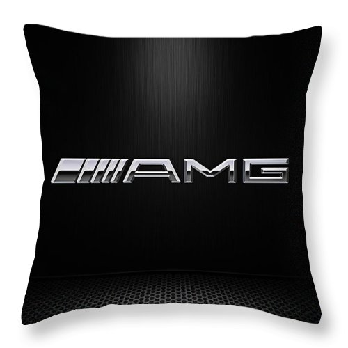 Mercedes Throw Pillow featuring the digital art Amg Center Stage by Douglas Pittman