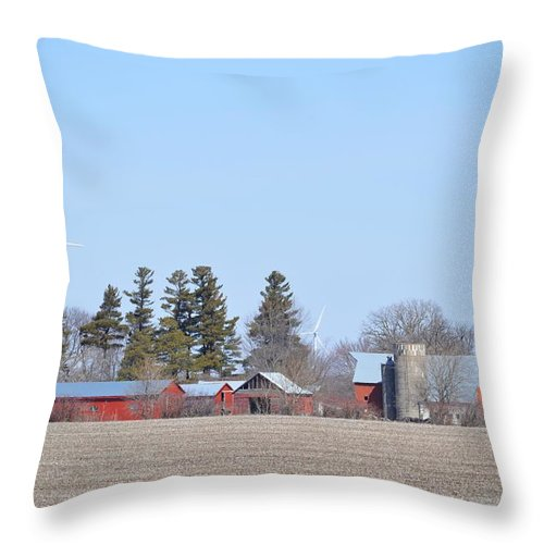 Landscape Throw Pillow featuring the photograph Amish Country by Bonfire Photography