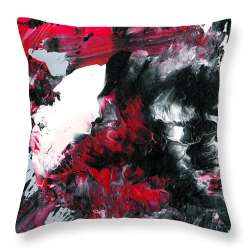 Abstract Throw Pillow featuring the painting Amorphous Pleasure by Maura Satchell