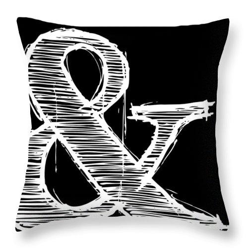 Motivational Throw Pillow featuring the digital art Ampersand Poster 2 by Naxart Studio