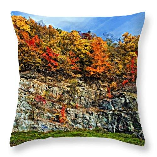 West Virginia Throw Pillow featuring the photograph An Autumn Day Painted by Steve Harrington