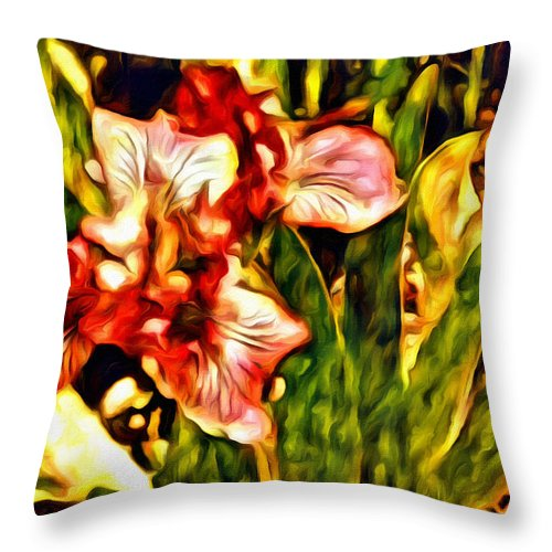 Iris Throw Pillow featuring the photograph An Iris View by Alice Gipson