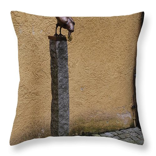 Crow Throw Pillow featuring the photograph An Old Crow by Richard Booth