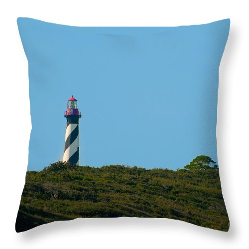 Light Throw Pillow featuring the photograph Anastasia Lighthouse by Photos By Cassandra