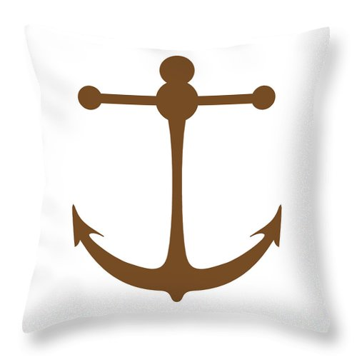 Graphic Art Throw Pillow featuring the photograph Anchor In Brown And White by Jackie Farnsworth