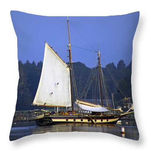 Sail Throw Pillow featuring the photograph Anchorage by Joe Geraci