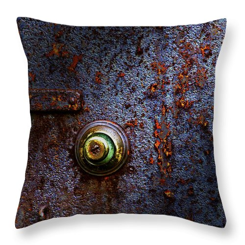 Abstract Throw Pillow featuring the photograph Ancient Entry by Tom Mc Nemar