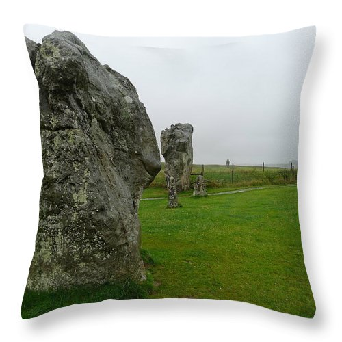Avebury Throw Pillow featuring the photograph Ancient Site Of Avebury by Denise Mazzocco