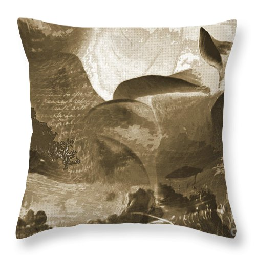 Throw Pillow featuring the mixed media Ancient by Yanni Theodorou