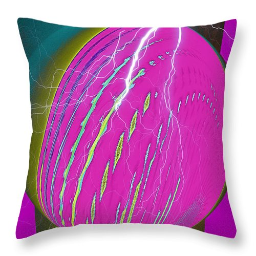 Earth Throw Pillow featuring the digital art And He Called It Earth by Luther Fine Art