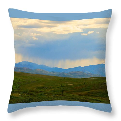 Alaska Throw Pillow featuring the photograph And So It Continues by Michael Anthony
