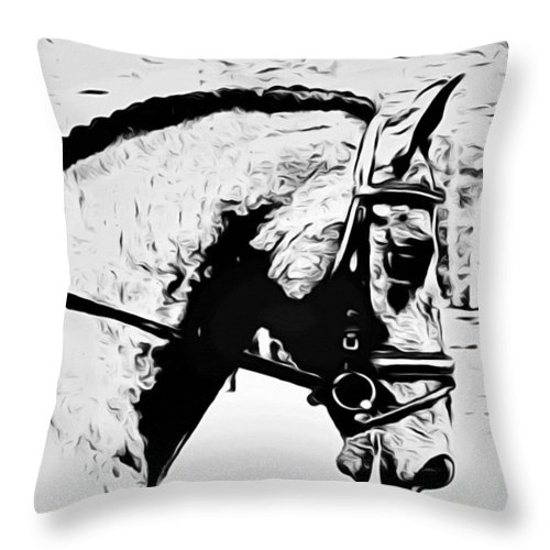 Horse Throw Pillow featuring the photograph Andalusian Elegance by Alice Gipson