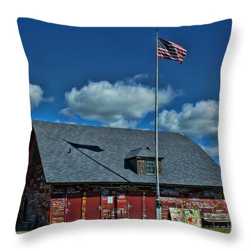 Andersons Dock Throw Pillow featuring the photograph Andersons Dock Door County Wi by Tommy Anderson