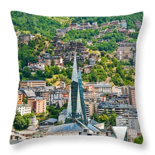 Andorra Throw Pillow featuring the photograph Andorra La Vella City by Gurgen Bakhshetsyan