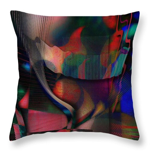 Android Throw Pillow featuring the digital art Android Universe by Mimulux patricia No