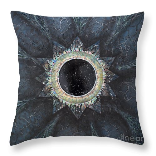 Stars Throw Pillow featuring the painting Andromeda Iris Constellation by Presa Hall