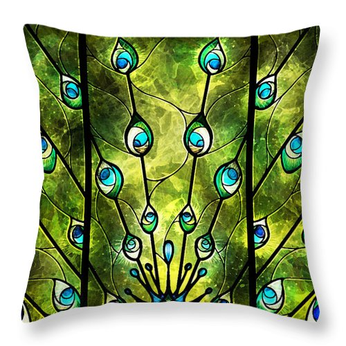 Angel Throw Pillow featuring the digital art Angel Eyes by Mandie Manzano