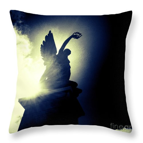Statue Throw Pillow featuring the photograph Angel Of Africa by Neil Overy