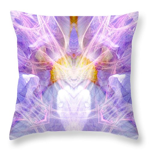 Angel Throw Pillow featuring the digital art Angel Of Beauty by Diana Haronis