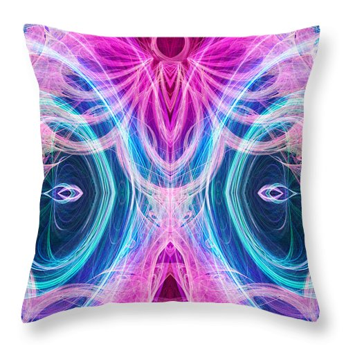 Angel Throw Pillow featuring the digital art Angel Of Courage by Diana Haronis