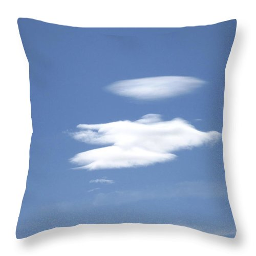 Cloud Throw Pillow featuring the photograph Angel Returning Home by Marilyn Diaz