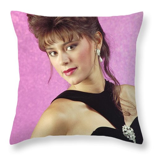 Model Throw Pillow featuring the photograph Angelablackformal by Gary Gingrich Galleries