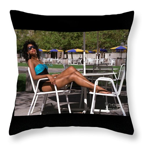 Model Throw Pillow featuring the photograph Angelachairs by Gary Gingrich Galleries