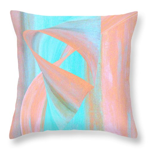 Abstract Throw Pillow featuring the digital art Angelfish by Stephanie Grant