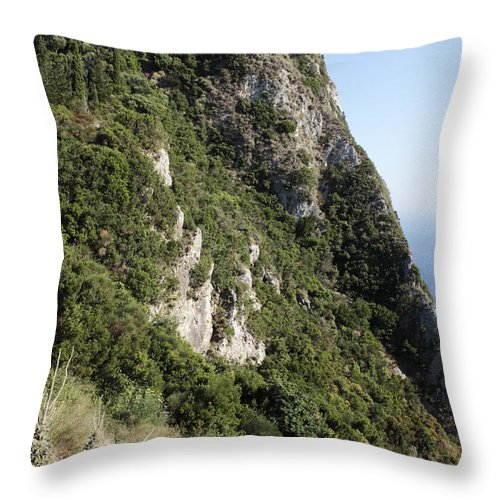 Angelo Castle Throw Pillow featuring the photograph Angelo Castle Corfu Greece by Neil Overy