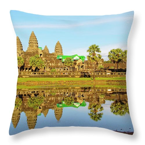 Tranquility Throw Pillow featuring the photograph Angkor Wat by Photo By Ramón M. Covelo