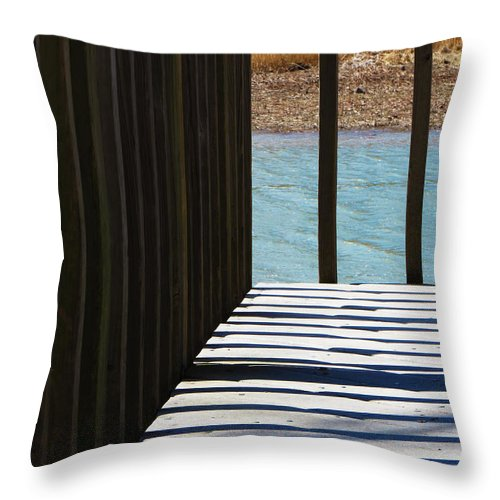 Shadow Throw Pillow featuring the photograph Angles And Shadows by Shawna Rowe