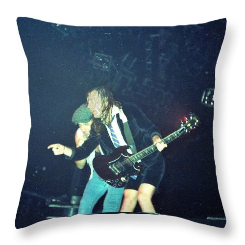 Concert Throw Pillow featuring the photograph Angus And Brian by Sheryl Chapman Photography