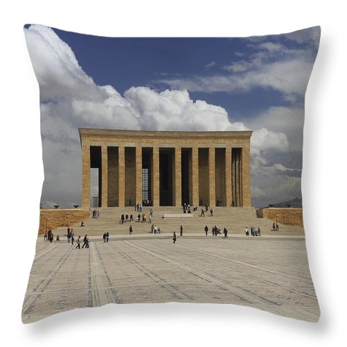 Anatolia Throw Pillow featuring the photograph Anitkabir Ankara Turkey by Ivan Pendjakov