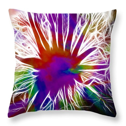 Abstract Throw Pillow featuring the photograph Anna Begins by Brian Raggatt