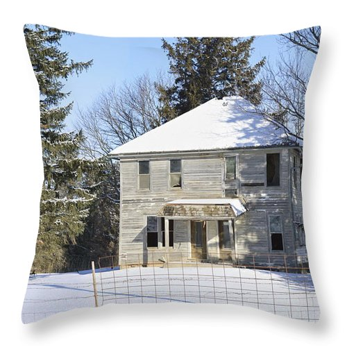 Winter Throw Pillow featuring the photograph Another Lonely Winter by Bonfire Photography