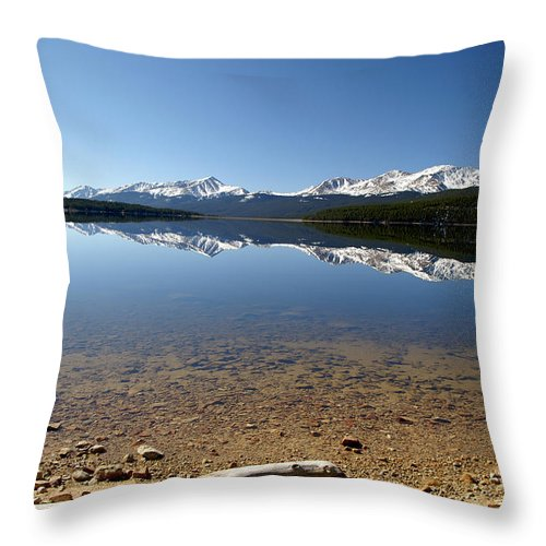 Reflection Throw Pillow featuring the photograph Another Perfect Day by Jeremy Rhoades