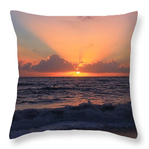 Jupiter Throw Pillow featuring the photograph Another Sunrise by Catie Canetti