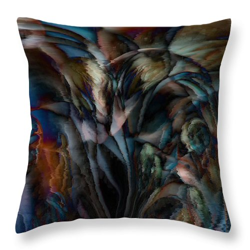 Another World Art Throw Pillow featuring the digital art Another World by Linda Sannuti