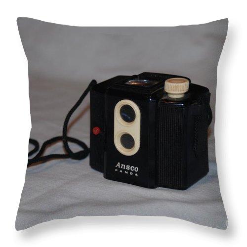 Ansco. Panda Throw Pillow featuring the photograph Ansco Panda by Mark McReynolds
