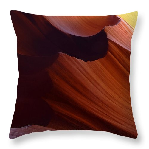 Antelope Throw Pillow featuring the photograph Antelope Canyon 39 by Ingrid Smith-Johnsen