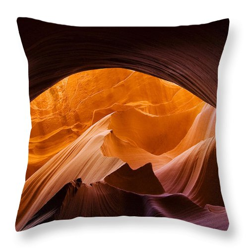 Antelope Throw Pillow featuring the photograph Antelope Canyon 11 by Ingrid Smith-Johnsen