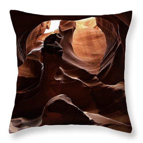 Antelope Throw Pillow featuring the photograph Antelope Canyon 13 by Ingrid Smith-Johnsen