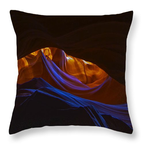 Antelope Throw Pillow featuring the photograph Antelope Canyon 19 by Ingrid Smith-Johnsen