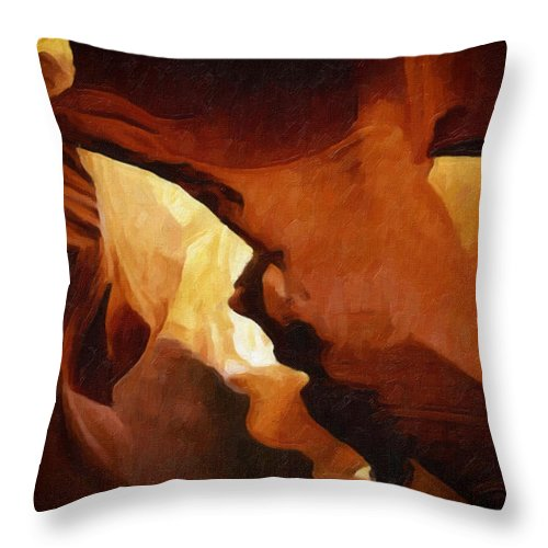 Antelope Throw Pillow featuring the photograph Antelope Canyon 26 by Ingrid Smith-Johnsen